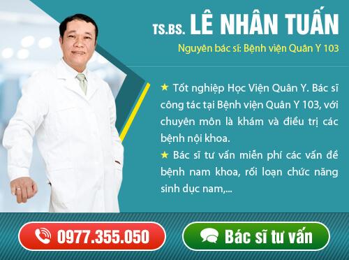 Bác sĩ tiến sĩ tư vấn nam khoa Lê Nhân Tuấn